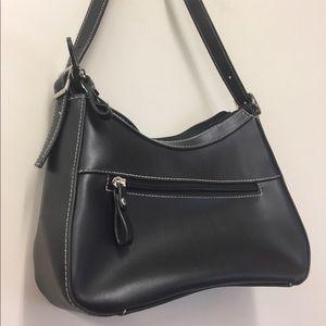 Vintage Black Medium Sized Purse White Stitching